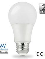 zdm ™ 2pcs vanlite e27 6w 500lumen levou a60 lâmpada para casa quente, branco escolher a poupança de energia natural branco (AC220-240V)