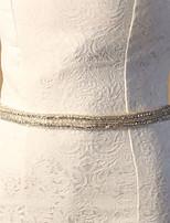 אבנט אלגנטי אופנת כלה סאטן / טול חתונה / מסיבה עם יהלומים מלאכותיים