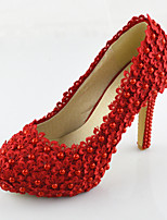 Women's Shoes Leatherette Stiletto Heel Heels Pumps/Heels Wedding Red