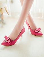 Women's Shoes Faux Fur Stiletto Heel Heels Pumps/Heels Office & Career/Dress Black/Green/Red/Beige