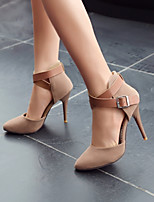 Women's Shoes Faux Suede Stiletto Heel Heels/Combat Boots/Pointed Toe/Closed Toe Pumps/Heels Office & Career/Dress/