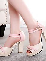 Women's Shoes  Stiletto Heel Heels/Peep Toe Sandals/Pumps/Heels Office & Career/Casual Blue/Pink/Red