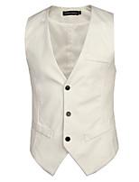 Men's Casual/Work/Formal Pure Sleeveless Regular Vest