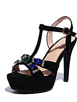 Women's Shoes Stiletto Heel Ankle Strap Sandals Outdoor/Casual Black