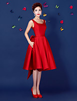 Homecoming Cocktail Party Dress A-line Straps Short/Mini Satin Dress