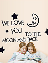 Wall Stickers Wall Decals Style Star Moon English Words & Quotes PVC Wall Stickers