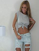 Women's Solid White/Black/Gray T-shirt , Round Neck Short Sleeve