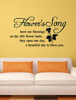 Wall Stickers Wall Decals Style Flower's Song English Words & Quotes PVC Wall Stickers