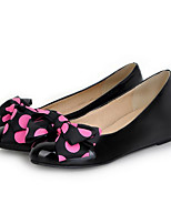 Girls' Shoes Casual Round Toe  Pumps/Heels Black/Pink