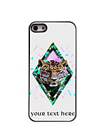 Personalized Gift The Leopard Design Aluminum Hard Case for iPhone 5/5S