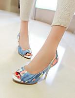 Women's Shoes  Stiletto Heel Heels/Open Toe Sandals Dress Blue/Red