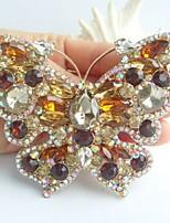 Women Accessories Gold-tone Topaz Rhinestone Crystal Brooch Art Deco Butterfly Brooch Bouquet Women Jewelry