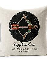 Modern Style Constellation Sagittarius Patterned Cotton/Linen Decorative Pillow Cover