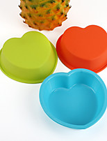 10pcs forme de coeur moules de cuisson des moules à gâteaux Jelly moule (couleur aléatoire)