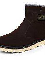 Men's Boots Comfort Winter Fleece Casual Brown Yellow Black Flat