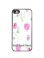 Personalized Gift Rose Design Aluminum Hard Case for iPhone 5/5S