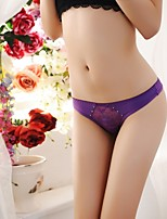 Women's Ultra Sexy Cotton Ice Silk G-string Thong Panty T-back with Diamond Ornament