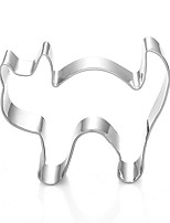 Halloween Cat Shape Cookie Cutters  Fruit Cut Molds Stainless Steel