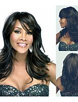 Fashionable Synthetic African American wigs Long Wavy hair wig for women Sexy Natural wigs with Bangs