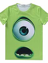 European Style TEE Digital Printing 3D T-shirt Wrinkled PoPeyes Monsters Inc Harajuku Sleeved T-shirt