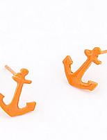 Fluorescent Anchor Pattern Earrings