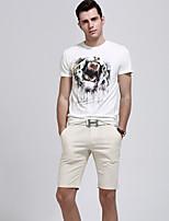 Men's Shorts , Casual/Work/Sport Plaids & Checks/Pure Cotton/Cotton Blend/Linen