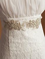 satin / tyl bryllup / fest bruden elegant skærf med blomster rhinestone