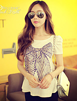 Pink Doll®Women's Round Neck Casual/Print Short Sleeve T-shirt