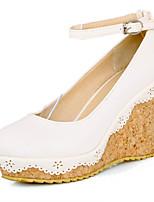 Women's Shoes Synthetic Wedge Heel Heels/Basic Pump Pumps/Heels Office & Career/Dress/Casual Blue/Pink/White