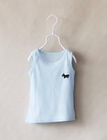 Girl's Summer/Spring/Fall Micro-elastic Medium Sleeveless Tanks & Camis (Cotton)