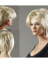 Top Quality Capless Synthetic Blonde Colour Short Straight  Full Wig