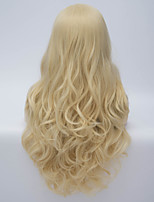 2015 Fashion Sexy Style Wavy Charming Blonde Long Wavy Costume Wig Hair Blonde Synthetic Hair Wigs