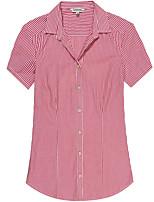 Women's Short Sleeve Striped Blouse
