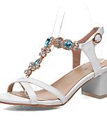 Zapatos de mujer Goma/Purpurina/Semicuero Tacón Robusto Innovador/Gladiador/Estilos/Punta Abierta Sandalias Vestido/Casual/Fiesta y Noche