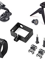 Protective Side Frame+Tripod+Car Suction Cup Mount Holder+More, 9 In 1 GoPro Accessories Kit For GoPro Hero 4/3+/3