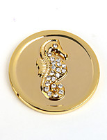 Summer Gift Girl's 33mm Alloy Mi Moneda Gold Spiny Seahorse Coin for 33mm Frame Pendant