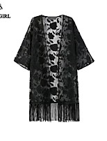 LIVAGIRL®Women's Coat Fashion Sexy Lace See Through Kimono Coat Europe New Style Summer Sun Protection Outwear