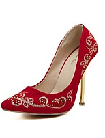 Women's Shoes Stiletto Heel Heels/Pointed Toe Pumps/Heels Casual Black/Red