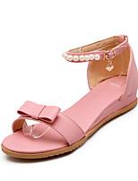 Sandalen-Outddor Kleid Lässig-PU-Flacher Absatz-Komfort Leuchtende Sohlen-Rosa Lila Weiß