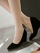 Women's Shoes Wedge Heel Wedges/Pointed Toe Pumps/Heels Office & Career/Dress Black/Green/Red/Beige