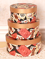 3 Piece/Set Favor Holder - Cylinder Card Paper Gift Boxes Non-personalised