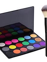 Pro Party 18 Colors Eyeshadow Matt Earth Color Makeup Palette + Powder Brush