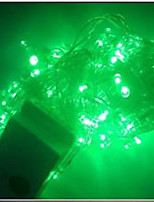 4W 10 Meter Long 100pcs LED String Light with AC110-220V Input PVC Transparent, Green Color