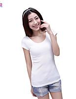 Women Ladies Summer Short Sleeves Korean Slim Tops Shirts Clothes