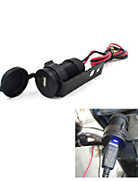 12V Black Motorcycle Mobile Phone USB Charger Power Adapter Socket Waterproof