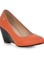 Scarpe Donna Sintetico Zeppa Zeppe/Decolleté Scarpe col tacco Ufficio e lavoro/Formale/Casual Nero/Beige/Arancione
