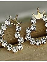 Set Auger Sweet Little Love Crown Fresh Joker Stud Earrings