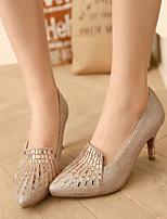 Women's Shoes  Stiletto Heel Heels Pumps/Heels Wedding/Office & Career/Party & Evening Silver/Gold