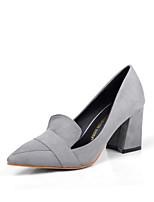 Women's Shoes  Chunky Heel Heels/Platform/Pointed Toe/Closed Toe Pumps/Heels Casual Black/Gray
