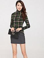 Women's Black/Gray Skirts , Casual Mini
